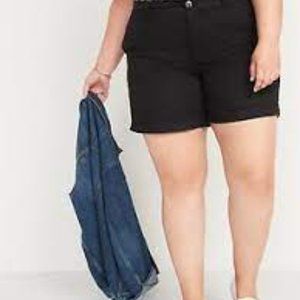 Old Navy Cotton Navy Chino Plus Size Shorts